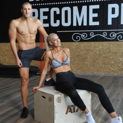 Couple workout and photoshot